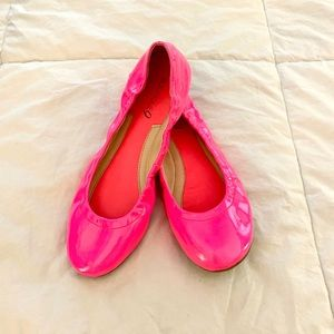 Nine West Neon Pink Patent Leather Flats